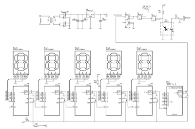 Complete schematic for the counter device
