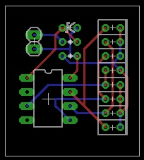 Screenshot of a possible PCB layout