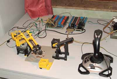 Screenshot of the robot with the joystick