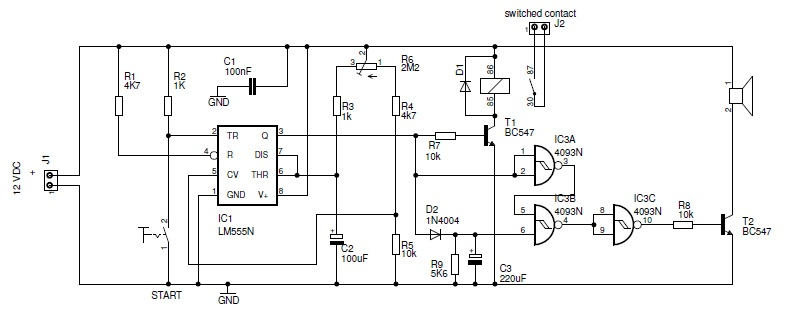 Complete schematic diagram for the extended soldering station protection